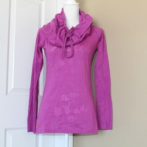 LOLE YOGA TOP WITH COWL NECK